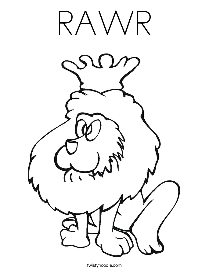 RAWR Coloring Page