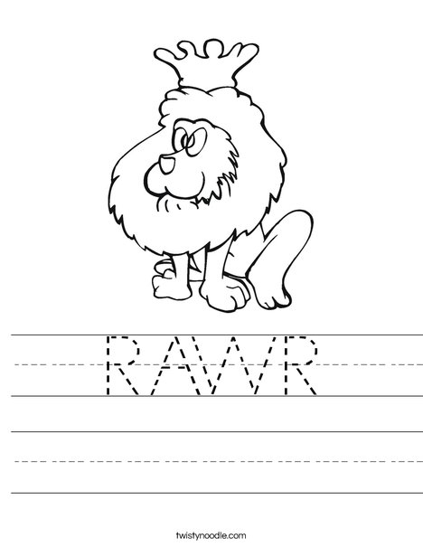 Lion King Worksheet