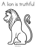A lion is truthfulColoring Page