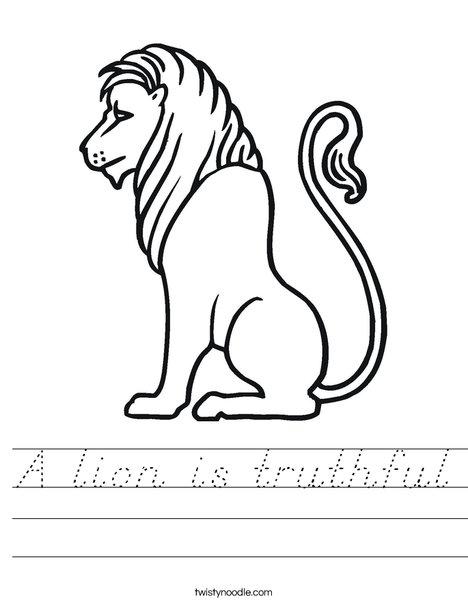 Truthful Lion Worksheet