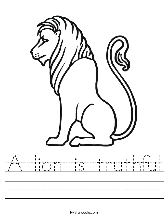 A lion is truthful Worksheet