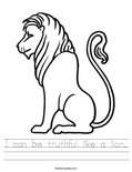 I can be truthful like a lion. Worksheet