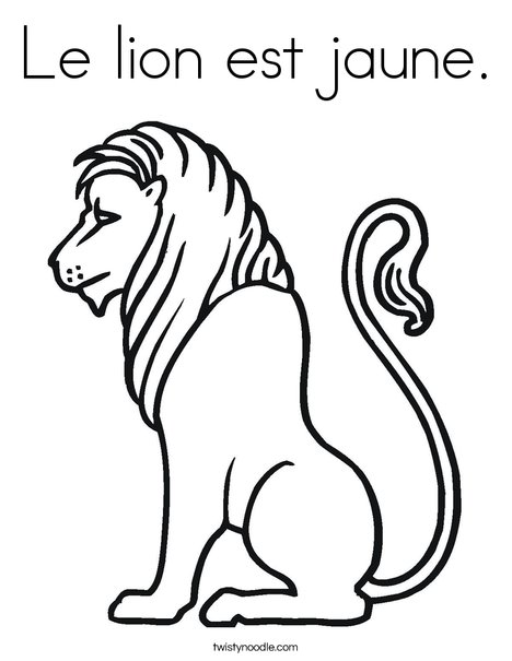 Truthful Lion Coloring Page