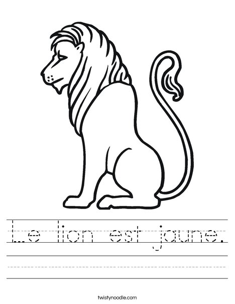 Truthful Lion Worksheet