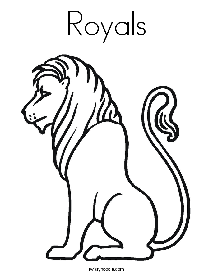 Royals Coloring Page