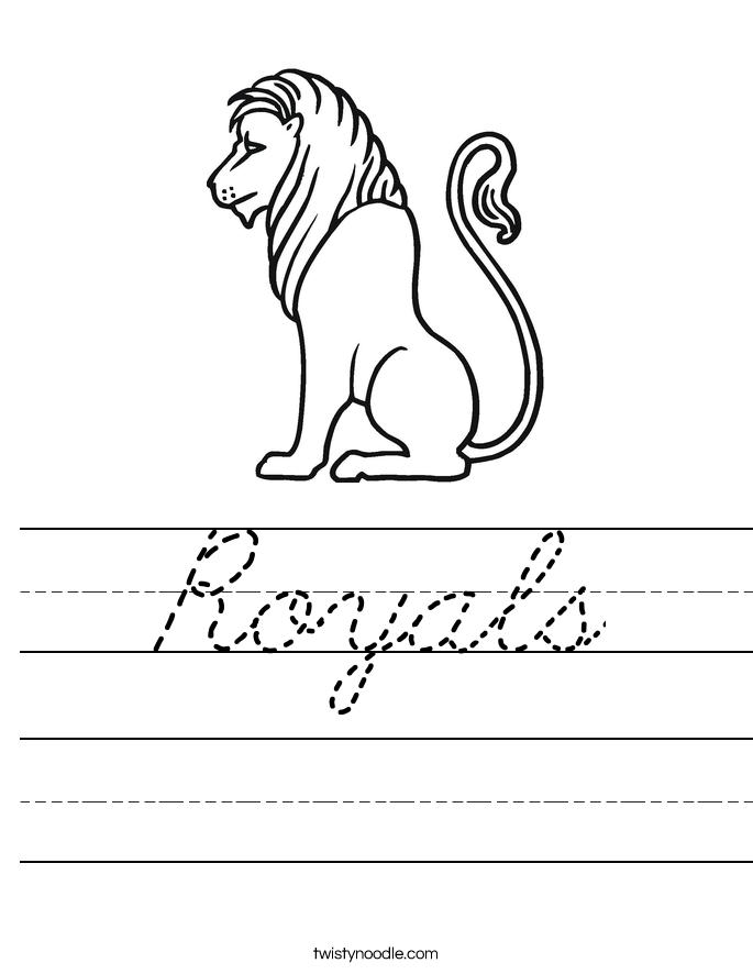 Royals Worksheet