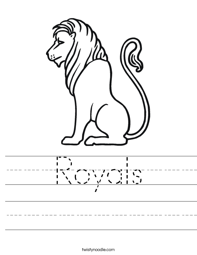 Royals Worksheet