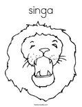 singa Coloring Page