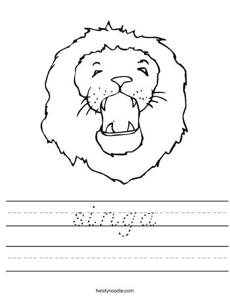 Roaring Lion Worksheet