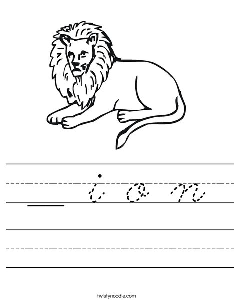 Lion Worksheet