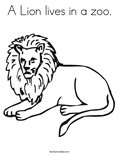 A Lion lives in a zoo.Coloring Page