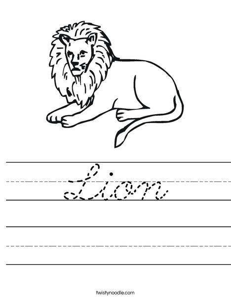 Lion Worksheet