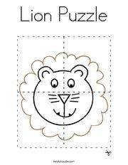 Lion Puzzle Coloring Page
