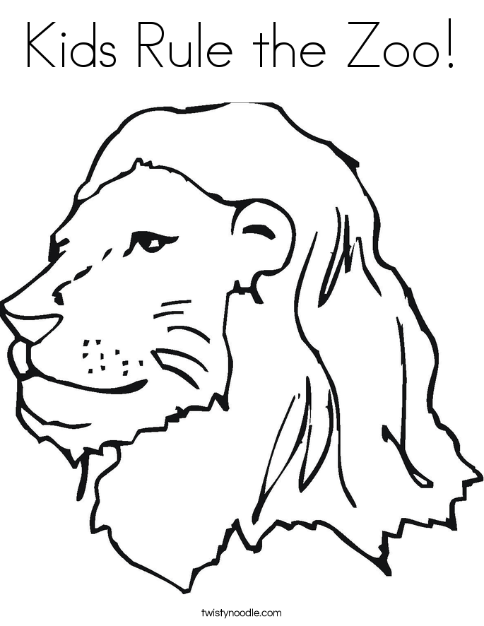 Kids Rule the Zoo! Coloring Page
