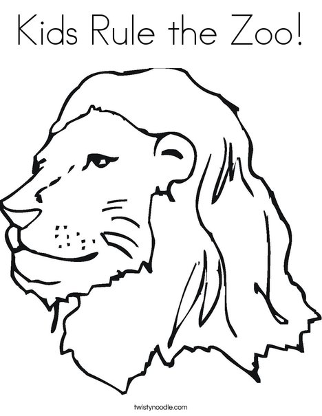 The Library Lion Coloring Page