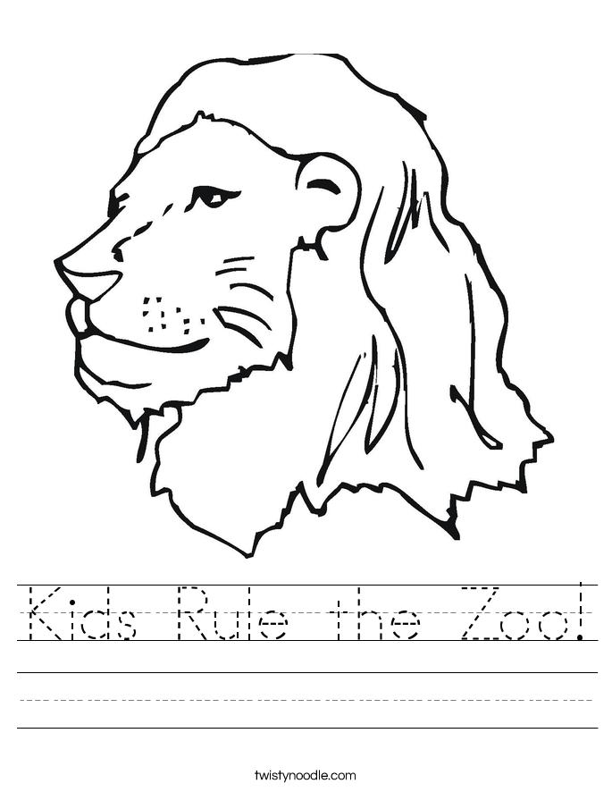 Kids Rule the Zoo! Worksheet