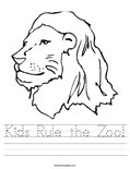 Kids Rule the Zoo! Worksheet