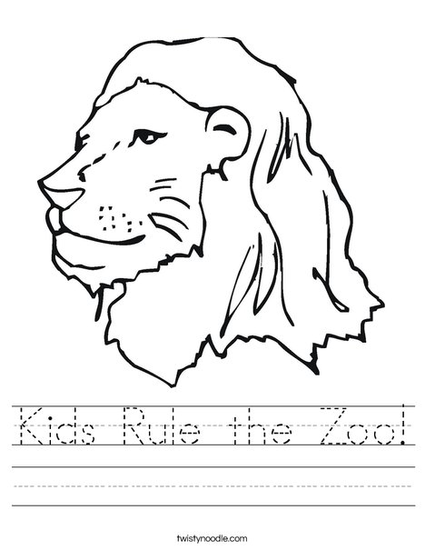 The Library Lion Worksheet