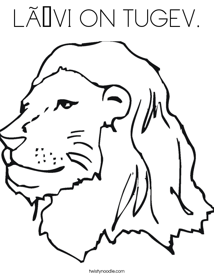 LÕVI ON TUGEV. Coloring Page