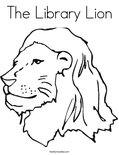 Change Template The Library Lion Coloring Page