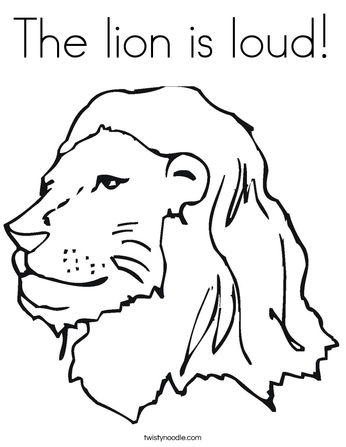 The lion is loud! Coloring Page