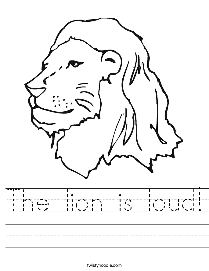 The lion is loud! Worksheet