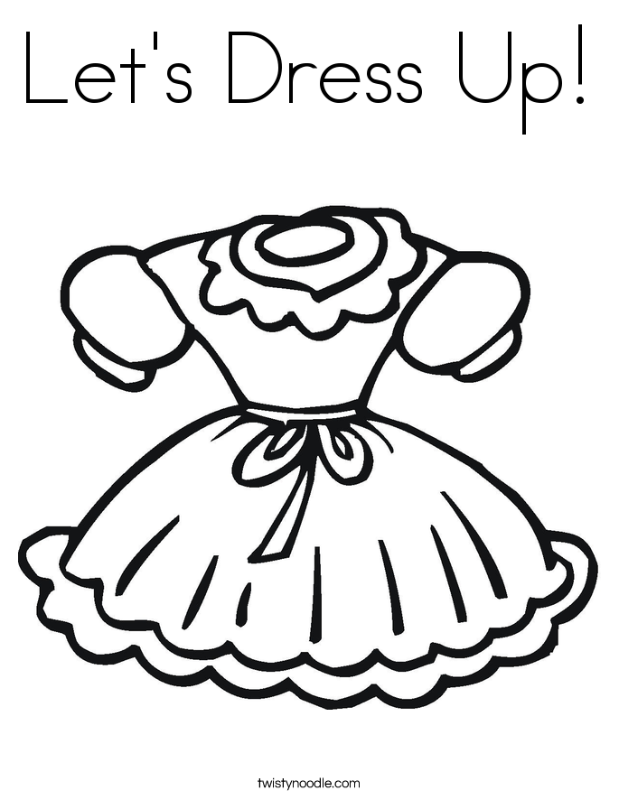 Let's Dress Up! Coloring Page