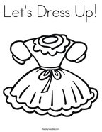 Let's Dress Up Coloring Page