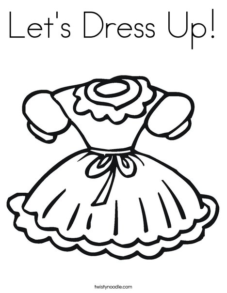 Perfect Little Girl Dress Coloring Page