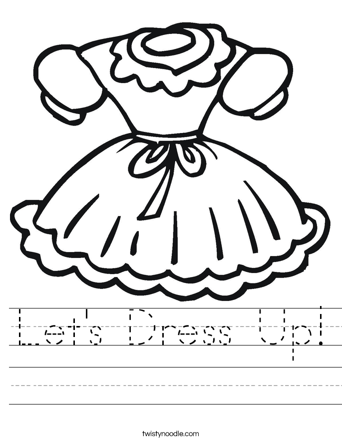 Let's Dress Up! Worksheet