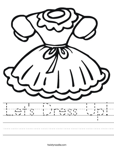 Little Girl Dress Worksheet