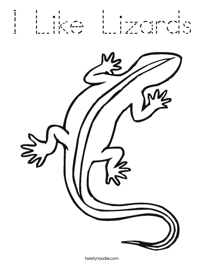 I Like Lizards Coloring Page