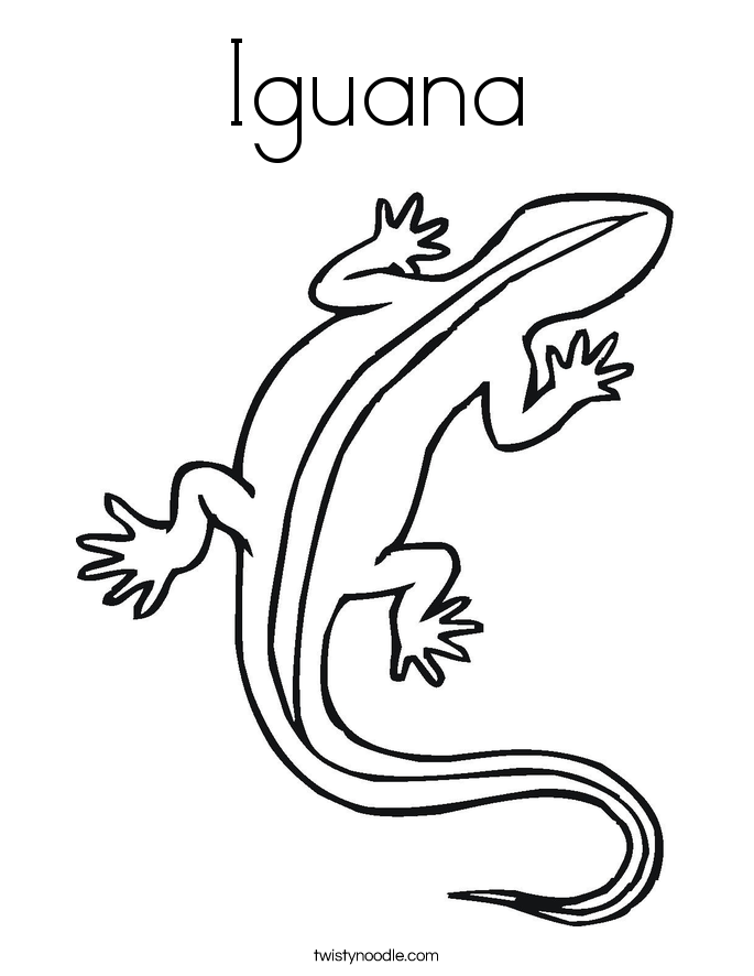 Iguana coloring page twisty noodle for Iguana coloring pages