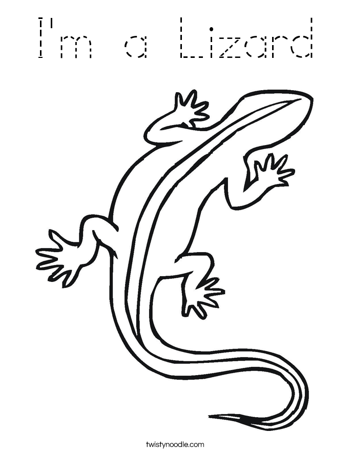 I'm a Lizard Coloring Page