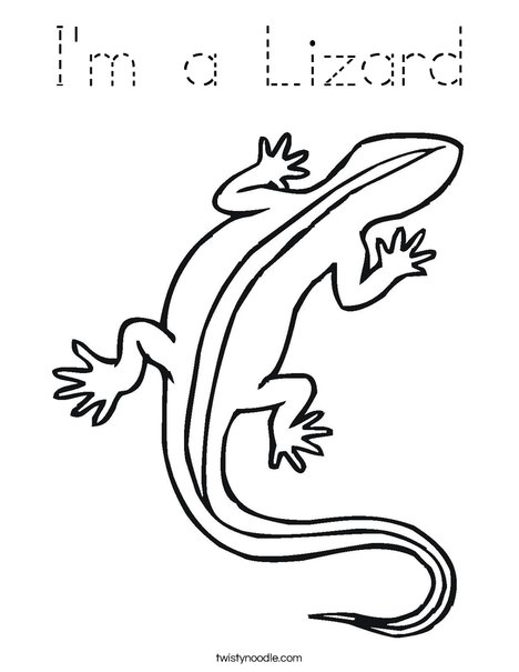 i u0026 39 m a lizard coloring page - tracing