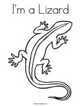 I'm a LizardColoring Page
