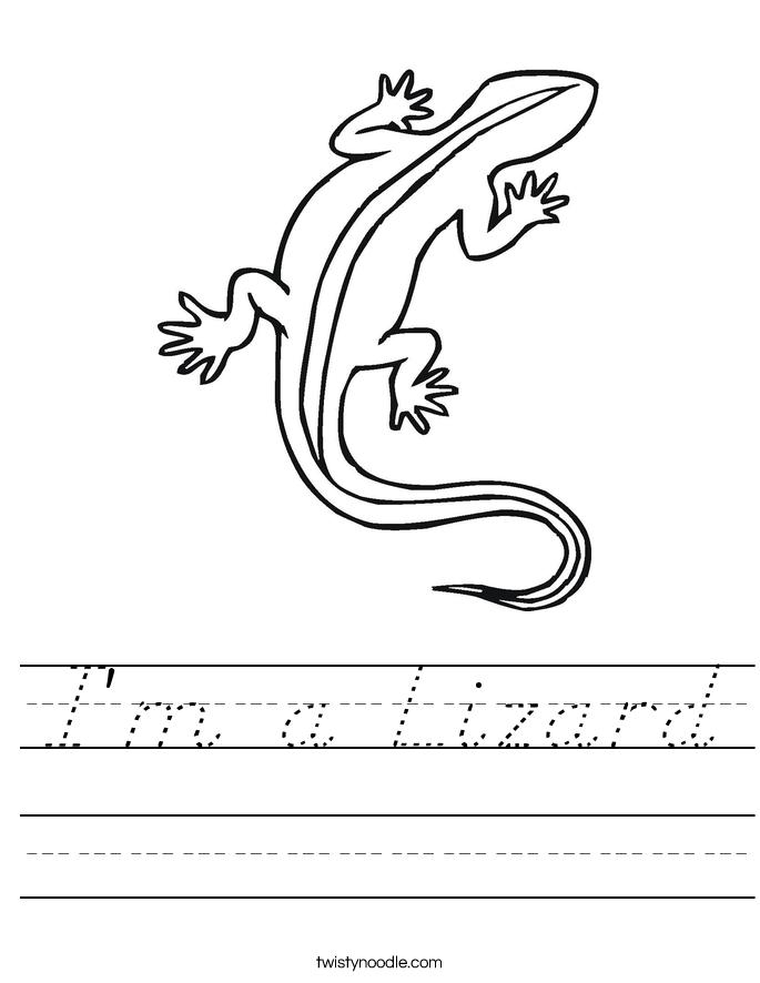 I'm a Lizard Worksheet