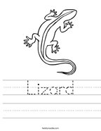 Lizard Handwriting Sheet