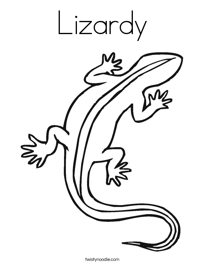 Lizardy Coloring Page