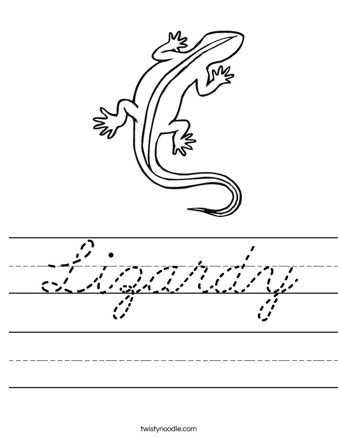 Lizardy Worksheet
