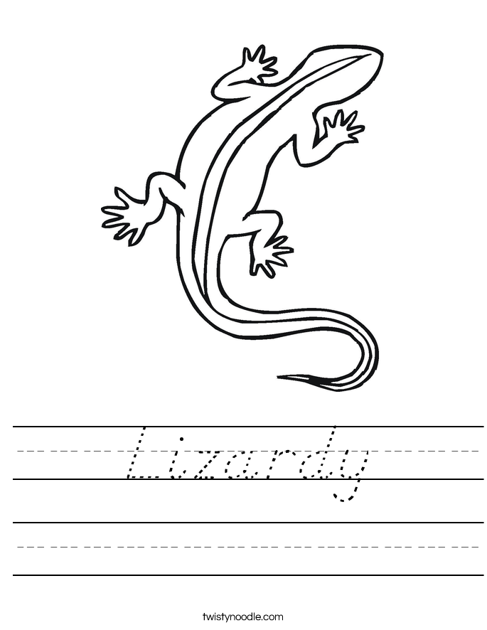 Lizardy Worksheet