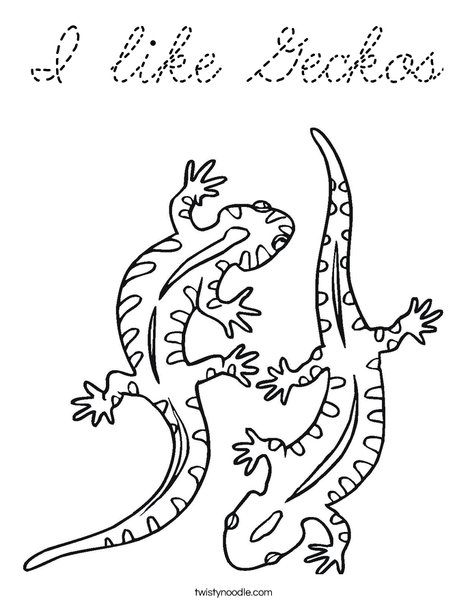 kaboose coloring pages printing gecko - photo #8