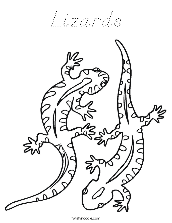 Lizards Coloring Page
