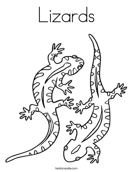 Two Lizard Coloring Page