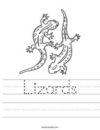 Lizards Handwriting Sheet