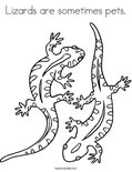 Lizards are sometimes pets.Coloring Page