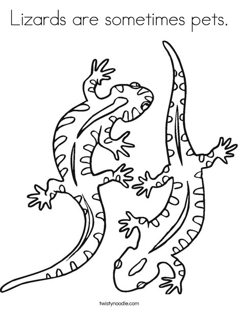 lizards are sometimes pets coloring page twisty noodle