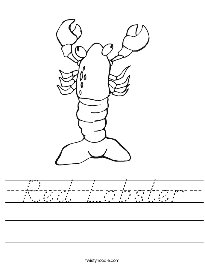 Red Lobster Worksheet