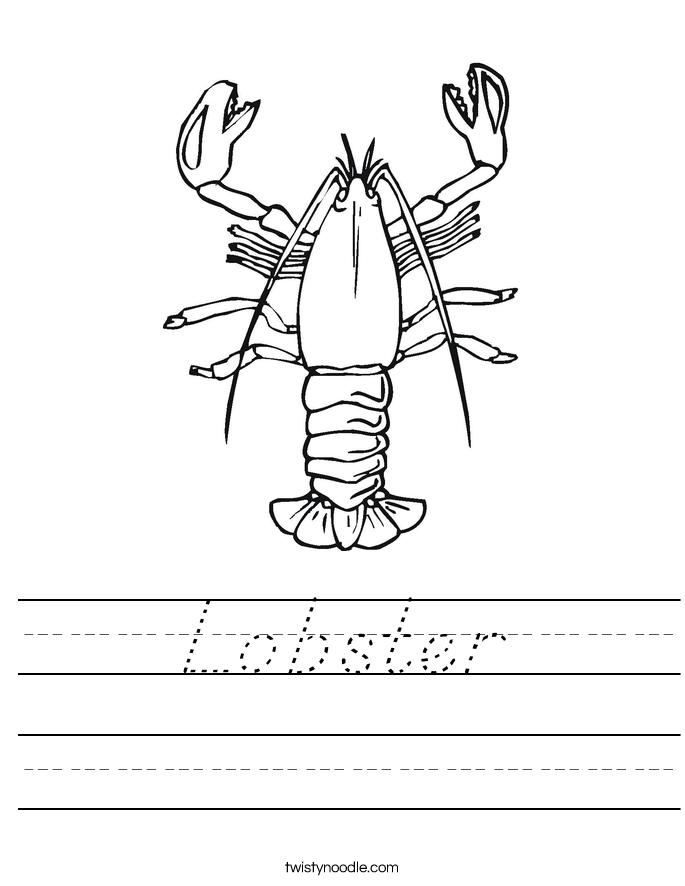 Lobster Worksheet
