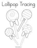 Lollipop Tracing Coloring Page